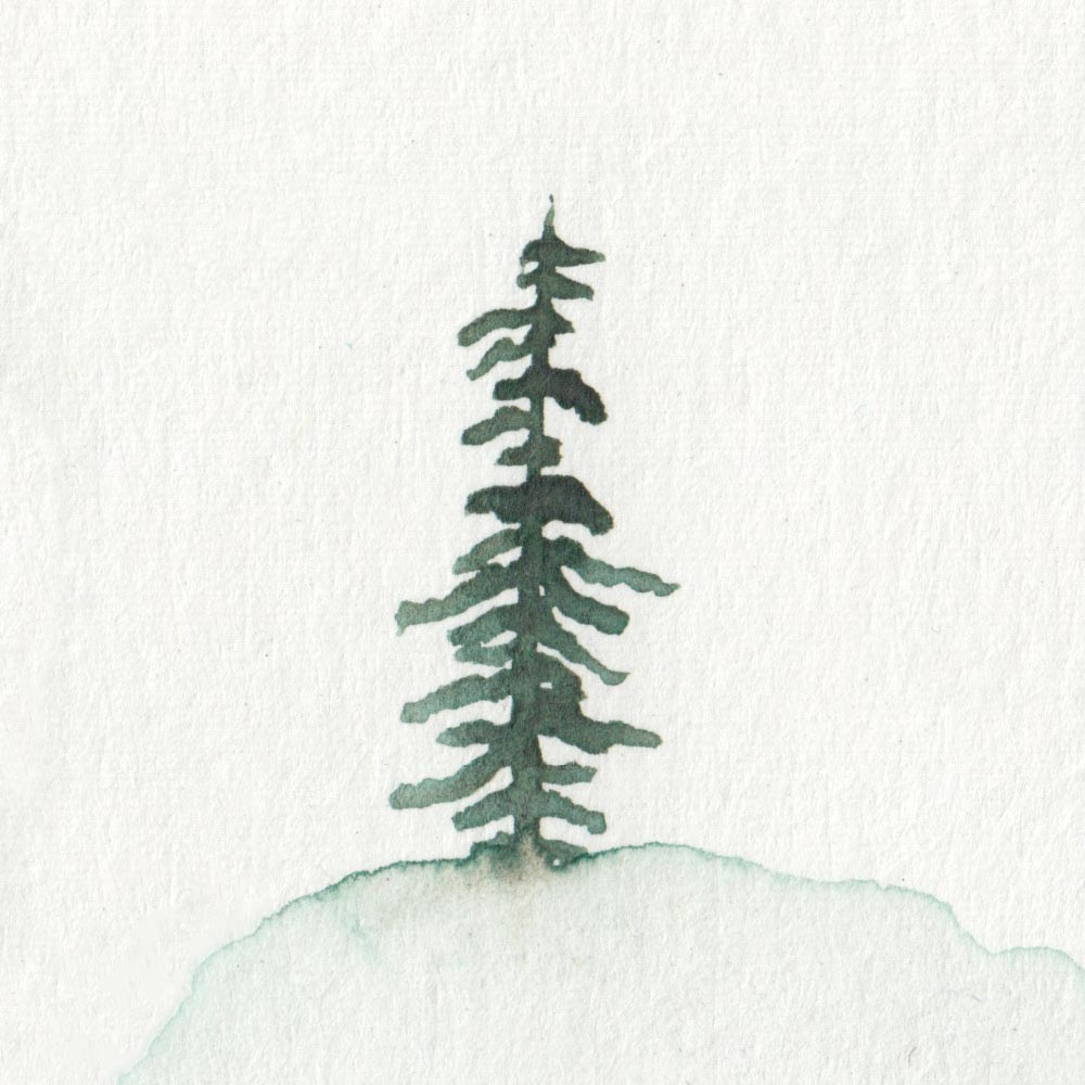 Painting a tree with watercolor easy
