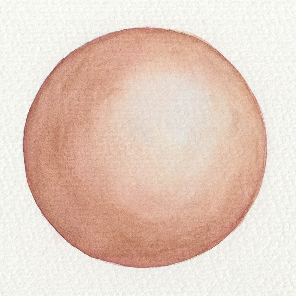Painting skin with watercolors