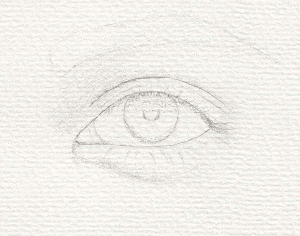 Augen malen Skizze
