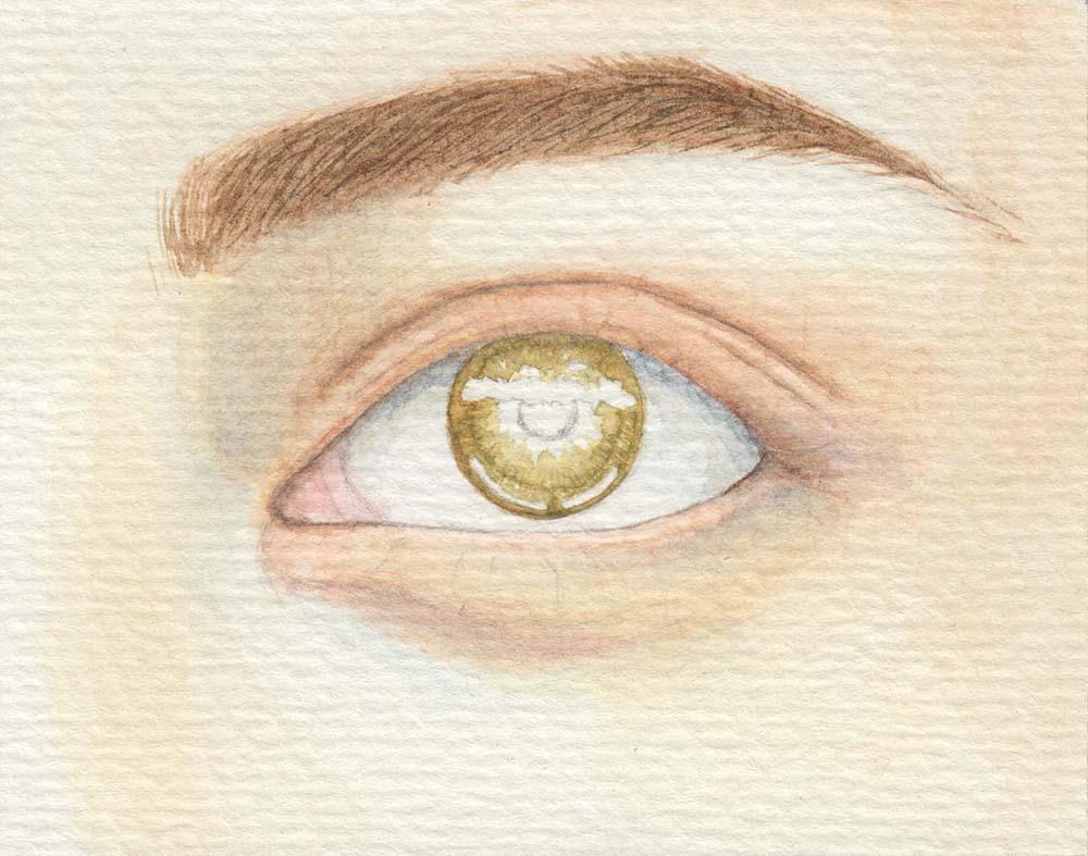 Augen malen Grundton