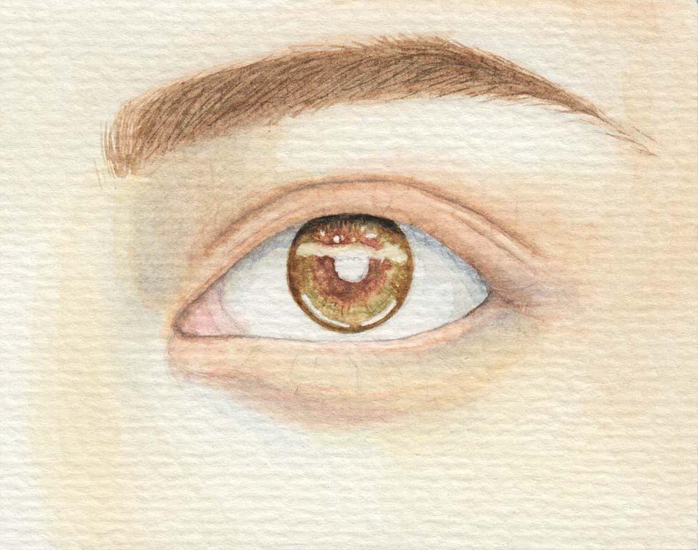 Augen malen Hauptton