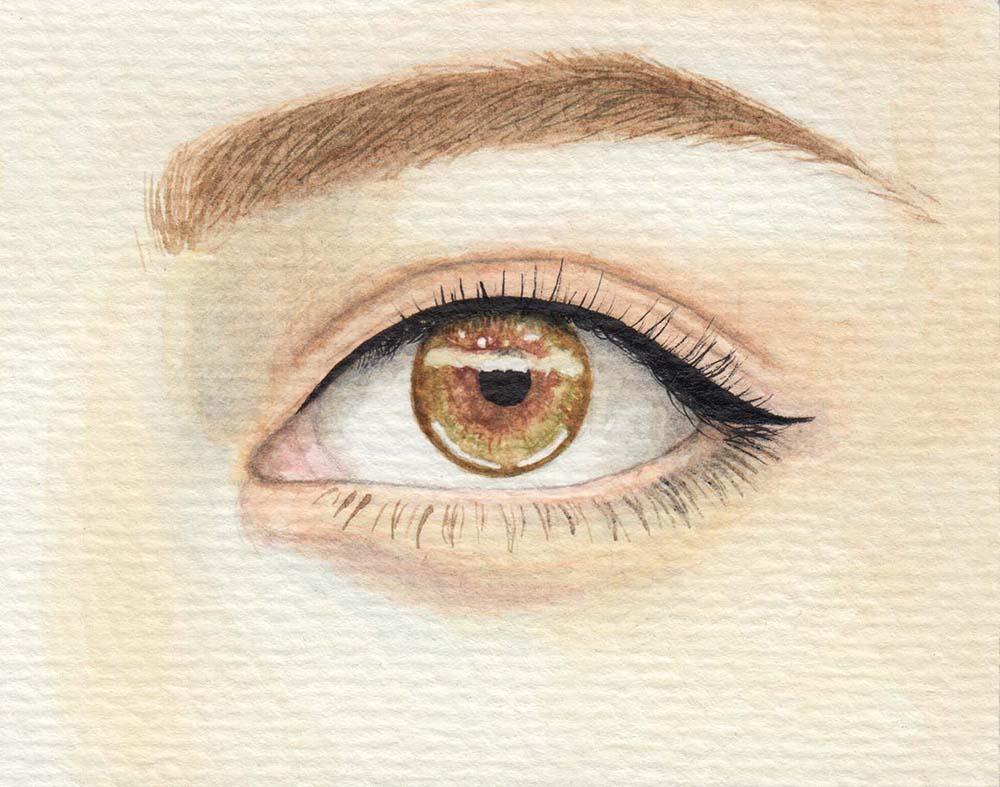 Augen malen Haselnussbraun
