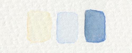 Aquarellfarben für Augenfarbe Hellblau