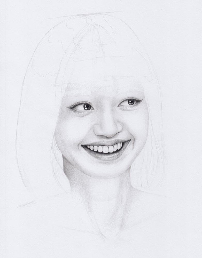 Portrait zeichnen lernen: Lächeln zeichnen