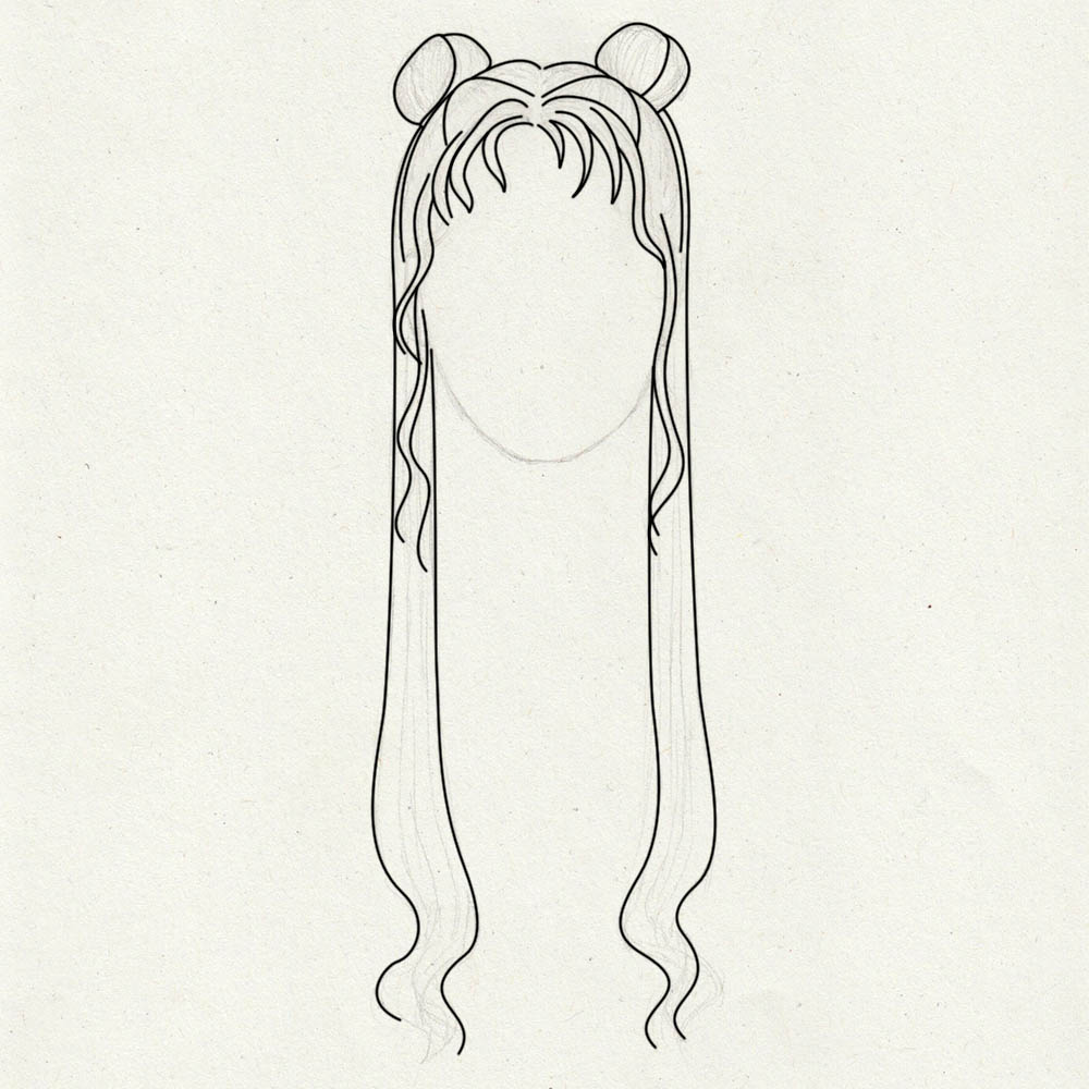 Guidelines for drawing Sailor Moons hair