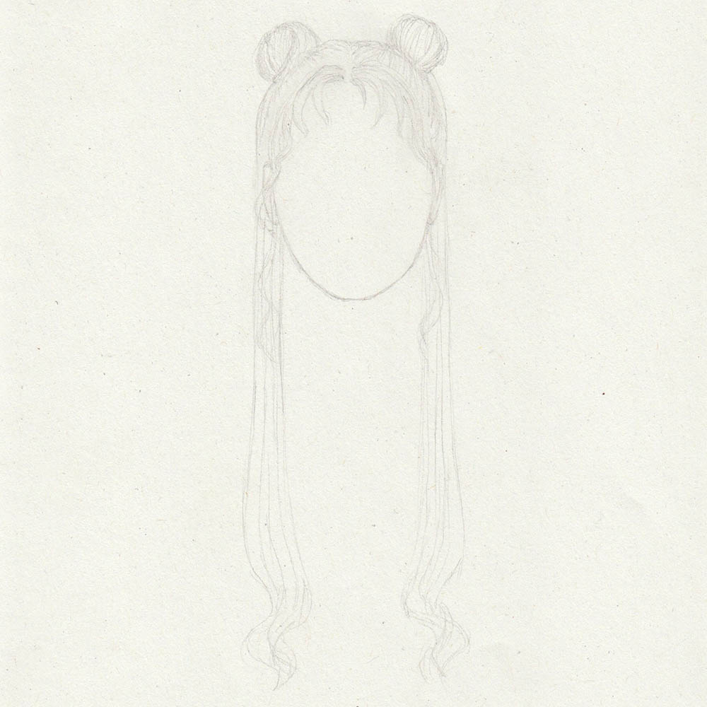 Sketch Sailor Moon hair