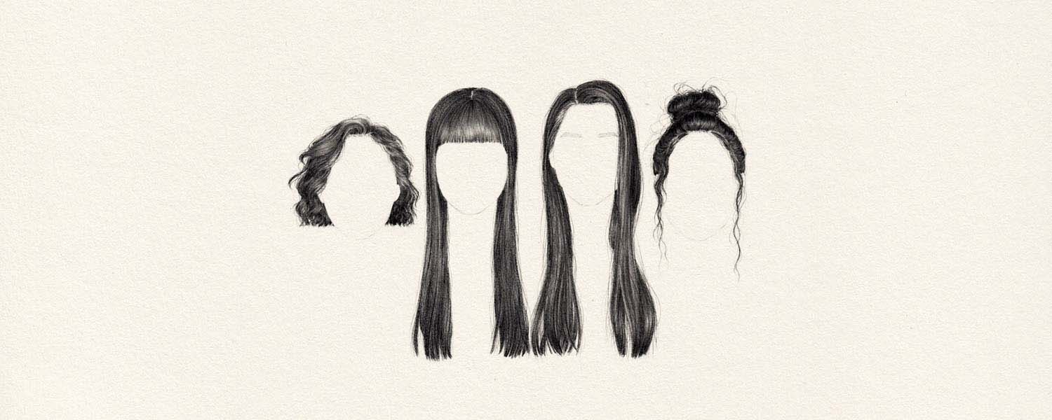 How to draw different hairstyles